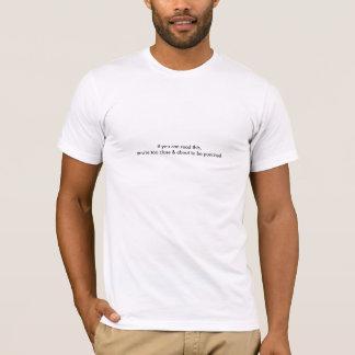 あなたは約パンチTシャツがあるため Tシャツ