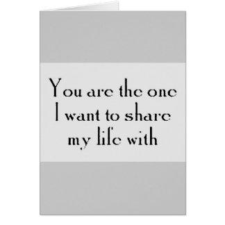 あなたは1つは愛ロイヤリティの共有の生命がほしいと思います カード