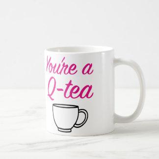 「あなたはQ茶」マグ コーヒーマグカップ