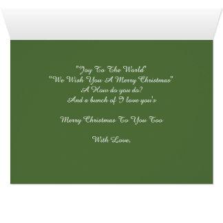 あなたへのメリーなメリークリスマス カード