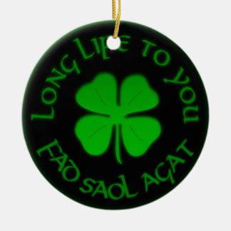 あなたへの長い生命アイルランドのことわざ セラミックオーナメント