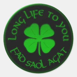あなたへの長い生命アイルランドのことわざ ラウンドシール