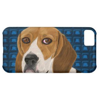 あなたを直接凝視しているビーグル犬-デジタルペンキ iPhone5Cケース