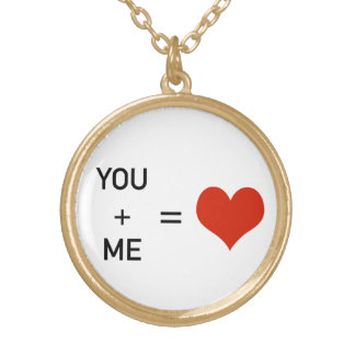 あなた及び私=愛 ゴールドプレートネックレス