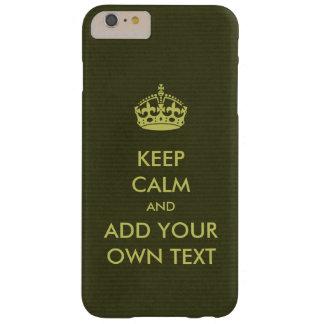 あなた専有物に穏やかなプロダクトオリーブ色のライムを保たせます BARELY THERE iPhone 6 PLUS ケース