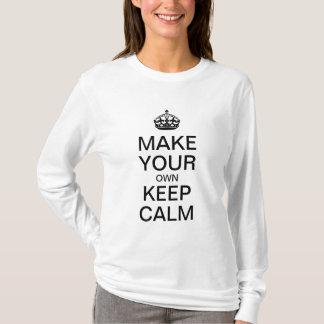 あなた専有物に穏やかなワイシャツ-長袖--を保たせます Tシャツ