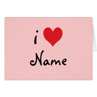"""あなた専有物を作成して下さい""""私が""""名前入りなバレンタインを愛する カード"""