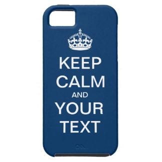 """あなた専有物を作成して下さい:  """"Keep Calm and Carry On """" iPhone SE/5/5s ケース"""