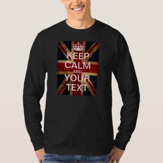"""あなた専有物を""""保ちましたり平静を及び続けていきます""""英国国旗作成して下さい! Tシャツ"""