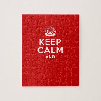 あなた専有物を「保ち、平静を続けていきます」王冠の赤を作成して下さい ジグソーパズル