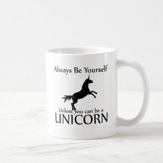 あなた自身がユニコーンあって下さい コーヒーマグカップ