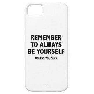 あなた自身が常にあることを覚えて下さい。 吸わなければ iPhone SE/5/5s ケース