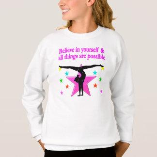 あなた自身で体操を信じて下さい スウェットシャツ