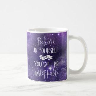 あなた自身で引用文を信じて下さい コーヒーマグカップ