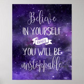 あなた自身で引用文を信じて下さい ポスター