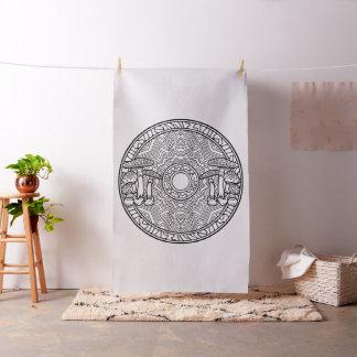 あなた自身のきのこの曼荼羅の生地を刺繍して下さい ファブリック