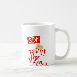 あなた自身のためにストップ、考えて下さい コーヒーマグカップ