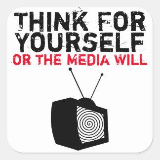 あなた自身のために考えて下さい: 催眠術をかけられたTV スクエアシール