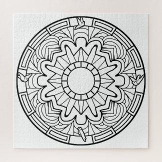 あなた自身のぬり絵帳のデザインの鳩を着色して下さい ジグソーパズル