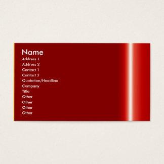 あなた自身のエレガントで赤い名刺を作成して下さい 名刺
