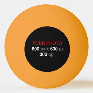 あなた自身のオレンジ黄色のピンポン球を作成して下さい 卓球ボール