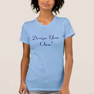 あなた自身のオーシャンブルーおよび真夜中を設計して下さい Tシャツ