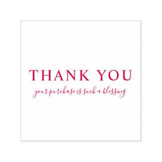 あなた自身のカスタムなメッセージを感謝していしています赤い作成して下さい セルフインキングスタンプ