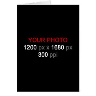 あなた自身のカスタムな写真のメッセージカードを作成して下さい カード