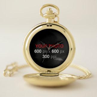 あなた自身のカスタムな写真の壊中時計を作成して下さい ポケットウォッチ