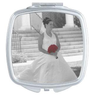 あなた自身のカスタムな写真の正方形のコンパクトの鏡を設計して下さい