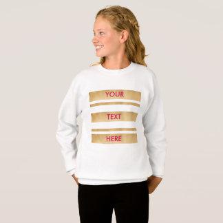 あなた自身のカスタムな文字を、模造のな金ゴールド縞で飾ります加えて下さい スウェットシャツ