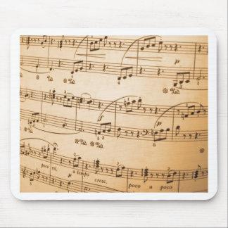 あなた自身のカスタムな楽譜のテンプレートを作成して下さい マウスパッド
