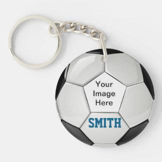 あなた自身のカスタムな記念品に誇り高いサッカーのお母さんをして下さい キーホルダー