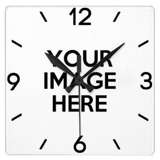 あなた自身のカスタムを作成して下さい スクエア壁時計