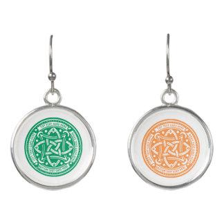 あなた自身のケルト結び目模様のシャムロックの緑のアイルランド語を作成して下さい イヤリング