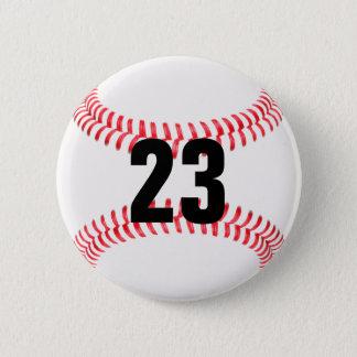 あなた自身のジャージー数野球ボタンを作って下さい 缶バッジ