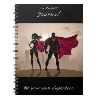 あなた自身のスーパーヒーロー- Amibefitジャーナル--があって下さい ノートブック