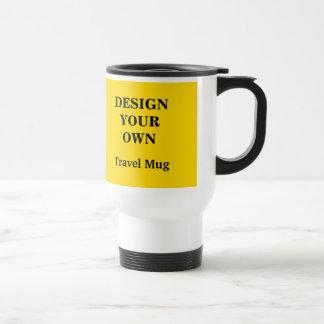 あなた自身のタンブラーを-黄色および白設計して下さい トラベルマグ