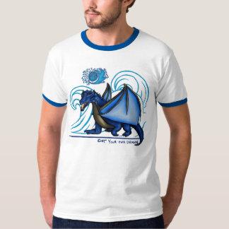 あなた自身のドラゴンの~のTanzanite雨Tシャツを得て下さい Tシャツ