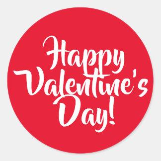 あなた自身のハッピーバレンタインデーの赤を作成して下さい ラウンドシール