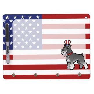 あなた自身のペットおよび旗を加えて下さい キーホルダーフック付きホワイトボード