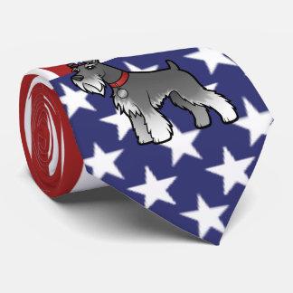 あなた自身のペットおよび旗を加えて下さい ネクタイ