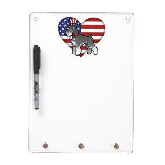 あなた自身のペットおよび旗を加えて下さい ホワイトボード
