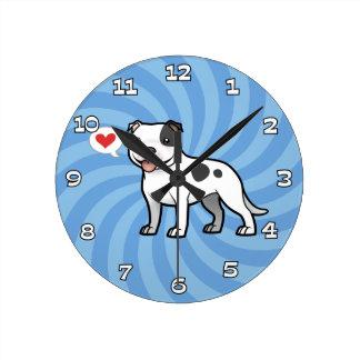 あなた自身のペットを作成して下さい ラウンド壁時計