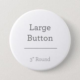 あなた自身のボタンを作成して下さい 7.6CM 丸型バッジ