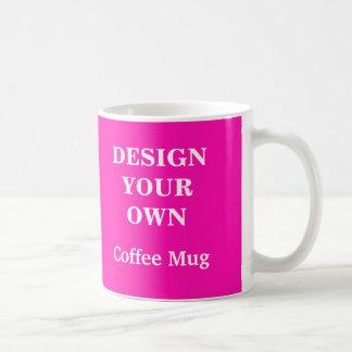 あなた自身のマグ-明るいピンク--を設計して下さい コーヒーマグカップ
