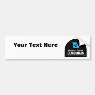 あなた自身のメッセージをカスタマイズ: Nodaway郡Dems バンパーステッカー