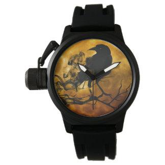 あなた自身のユニークな保護装置の黒のゴムメンズを作成して下さい 腕時計