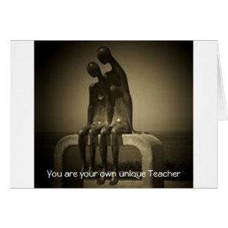 あなた自身のユニークな先生です カード