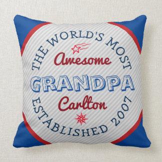 あなた自身の世界の最も素晴らしい祖父のロゴを作成して下さい クッション